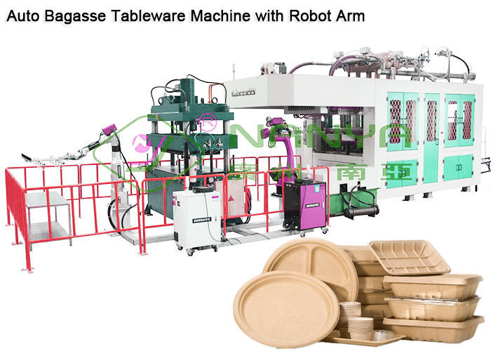 Vacuum suction 400kg/H 1300*1100mm Tableware Making Machine